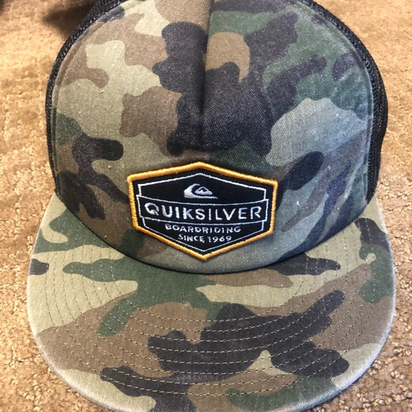 bb3843198c3 Quiksilver Special Edition Camo Hat. M 5b95e581a31c33c8da1c6f9d